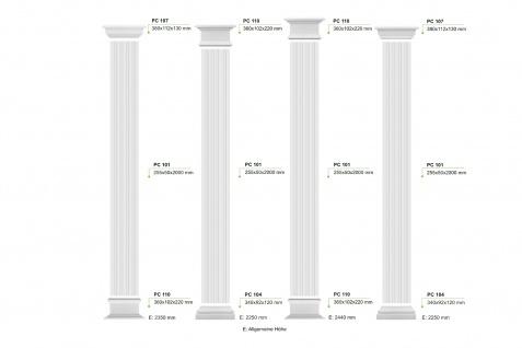 Pilaster Fassade Komplett Wand Bauteile Flachsäule Dekor EPS robust hart PC