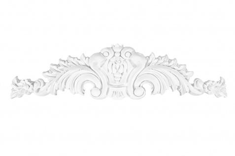 1 Ornament Dekorelement PU Stuckdekor Innen Wanddekor stoßfest 590x170mm, W834