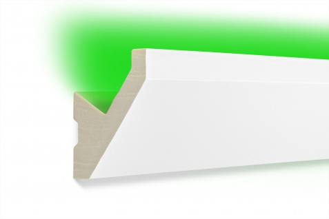 2m LED Profil indirekte Beleuchtung lichtundurchlässig Hexim 65x65mm LED-14