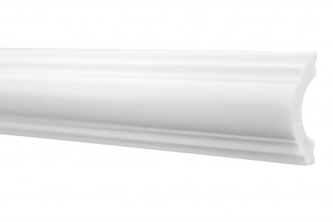 2 Meter | Flachleiste | Stuck | Wand | Profil | stoßfest | 20x40mm | HW-2