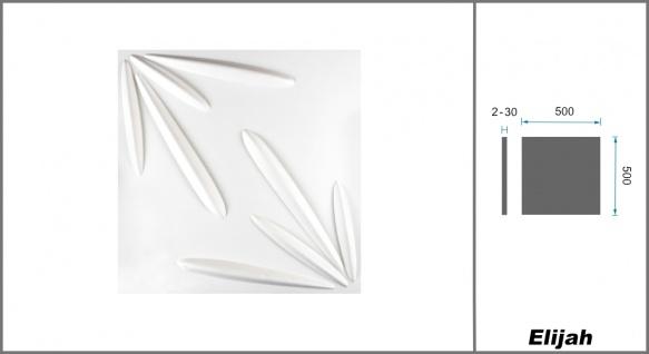 1 qm 3D Platten Natur Stuck ökologisch Paneele 3D Elite Panels 50x50cm Elijah - Vorschau 2