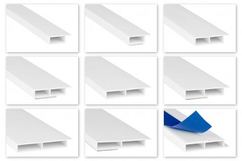 2m PVC Hohlkammerleisten Fahne Deckleisten Fensterleisten selbstklebend 7mm HJ