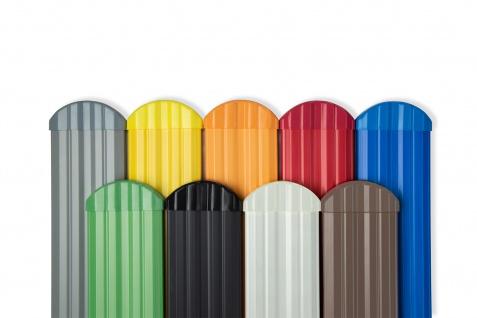 Zaunkappen rund | PVC | Gartenzaun | Balkonbrett | viele Farben | PZKR