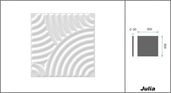 1 qm 3D Platten Natur Stuck ökologisch Paneele 3D Elite Panels 50x50cm Julia - Vorschau 2