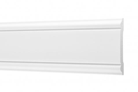 2 Meter Flachleisten HXPS Zierleisten Ecopolimer stoßfest hart Cosca 8x60mm CM8