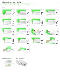 2 Meter | LED Profil | PU | stoßfest | Hexim | 130x100mm | LED-6 - Vorschau 3