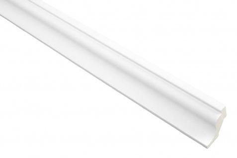 2 Meter PU Zierprofil Zierleiste Innendekor stoßfest Hexim 31x33mm | FH9055