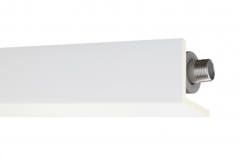 B-Ware 2 Meter Abdeckleiste Rohr Verkleidung PU stoßfest Hexim Perfect 56x56mm AB296