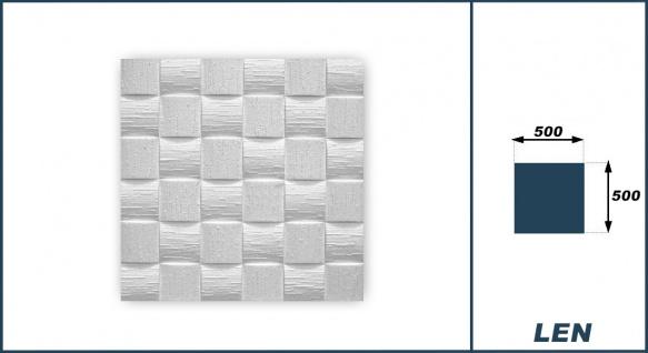 1 qm Deckenplatten Polystyrolplatten Stuck Decke Dekor Platten 50x50cm Len - Vorschau 3