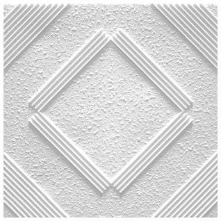 1 qm Deckenplatten Polystyrolplatten Stuck Decke Dekor Platten 50x50cm Chicago - Vorschau 1