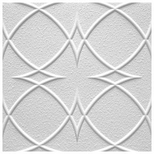 1 qm Deckenplatten Polystyrolplatten Stuck Decke Dekor Platten 50x50cm Saturn