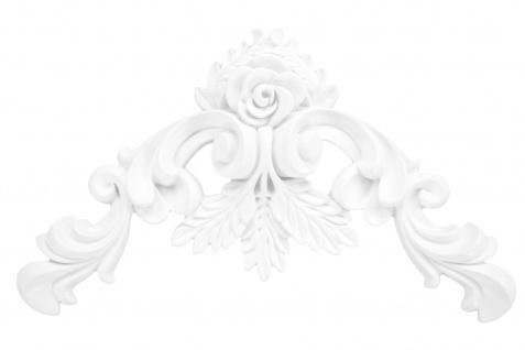 1 Ornament Dekorelement PU Stuckdekor Innen Wanddekor stoßfest 140x230mm, A626