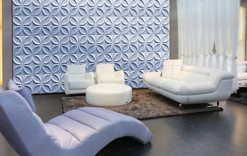 3D Wandpaneele Styroporplatten Wandverkleidung Wanddekor Verblender Lotos Sparpaket - Vorschau 4
