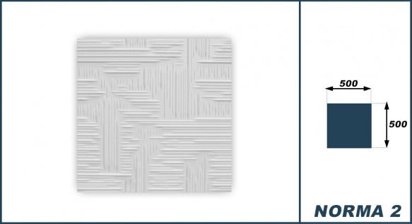Sparpaket Deckenplatten Polystyrol Stuck Decke Dekor Platten 50x50cm Norma2 weiß - Vorschau 3