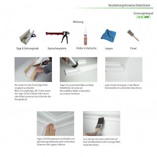 Stuckleisten Zierleisten Eckleisten stabil XPS Sparpaket Marbet 45x67mm E-35 - Vorschau 5