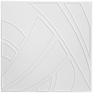 1 qm Deckenplatten Polystyrolplatten Stuck Decke Dekor Platten 50x50cm Nr.43