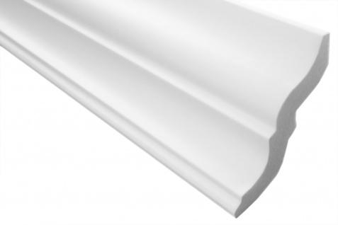 2 Meter Stuckleiste XPS Zierprofil Eckleiste stabil weiß Marbet 80x87mm E-10