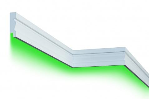 Fassadenleiste LED indirekte Beleuchtung stoßfest 35x125mm MC304