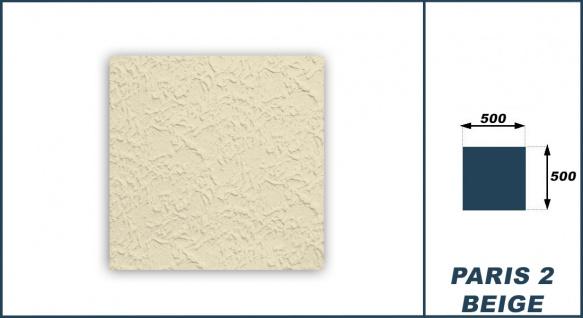 Sparpaket Deckenplatten Polystyrol Stuck Decke Dekor Platte Beige 50x50cm Paris2 - Vorschau 3