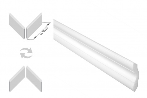 Stuckleisten inkl. Eckprofile XPS Dekor stabil 40x40 Marbet Sparpaket E-41-NK