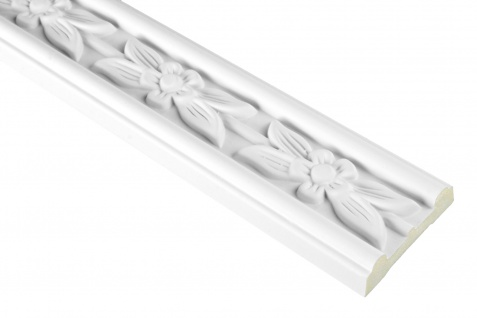 2 Meter | PU Flachleiste Profil Innen Dekor stoßfest | Hexim | 50x17mm | FH9422