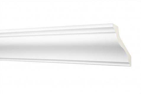 2M Zierleiste 50x50mm - Stuckleiste aus PU glatt, stoßfest - Perfect AB294