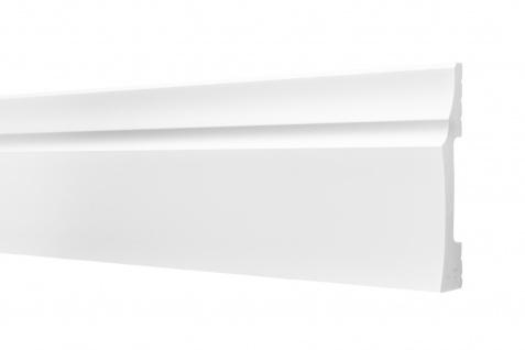 2 Meter Sockelleisten HXPS Eckleisten Ecopolimer stoßfest Cosca 25x120mm CP9