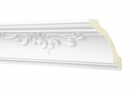 2M Zierprofil 90x90mm - Stuckleiste aus PU gemustert, stoßfest - Perfect AA326