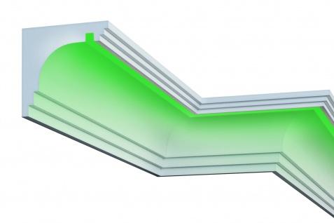 Fassade LED Stuck EPS PU Fassadenleisten wetterfest 220x210mm Sparpaket KC302