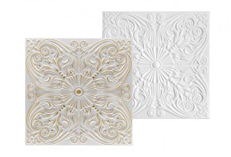 1 qm Deckenplatten Styroporplatten Stuck Decke Dekor Platten 50x50cm Nr.76