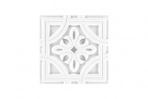 1 PU Ornament für Decke und Wand stoßfest Hexim 20x20cm FR33