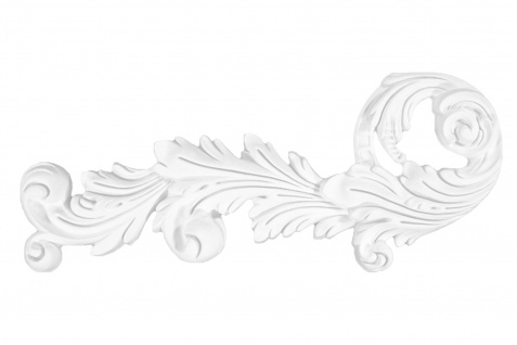 1 Ornament Dekorelement PU Stuckdekor Innen Wanddekor stoßfest 450x190mm, W874L/R