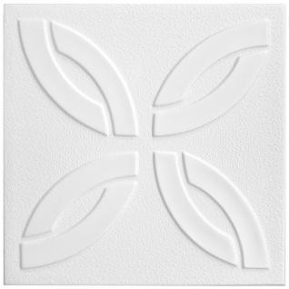 1 qm Deckenplatten Styroporplatten Stuck Decke Dekor Platten 50x50cm Nr.45