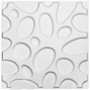 1 qm | 3D Platten | Natur | Stuck | Paneele | 50x50cm | Henry