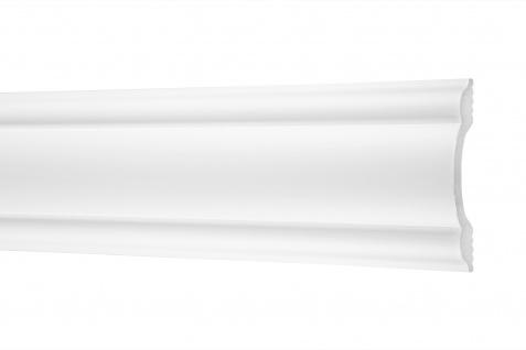 2 Meter Flachleisten HXPS Eckleisten Ecopolimer stoßfest Cosca 85x20mm CM19