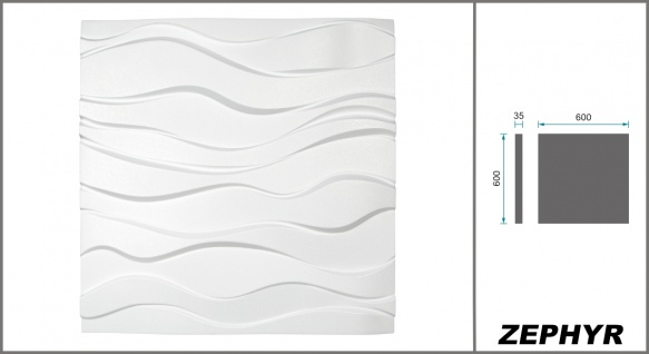 3D Wandpaneele Styroporplatten Wandverkleidung Wanddekor Verblender Zephyr Sparpaket - Vorschau 2
