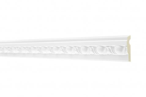 2M Flachprofil 50x18mm - Stuckleiste aus PU gemustert, stoßfest - Perfect AC255