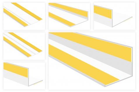 Flachleisten PVC weiß 2m - Sonderprofile, mit Kleberillen oder Knickwinkel - HJ
