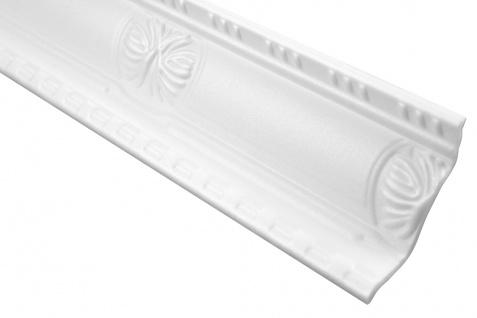 2 Meter Zierprofil Polystyrolleiste Eckleiste Hexim 93x45mm M-20