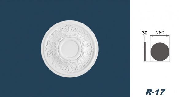 1 Rosette | Decke Stuck Innendekor EPS Dekor Marbet Durchmesser 28cm R-17 - Vorschau 3