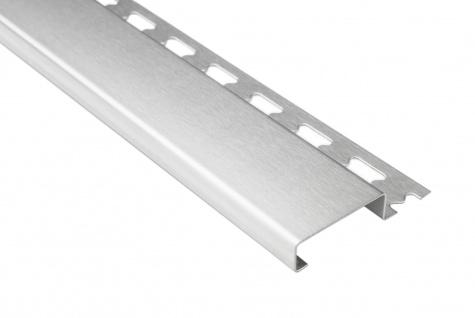 Sockelprofil 12mm | Edelstahlschienen - silber gebürstet | ES Sparpaket