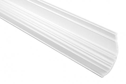 2 Meter | Eckprofil Polystyrolleiste Deckenleiste | Hexim | 60x80mm | M-07