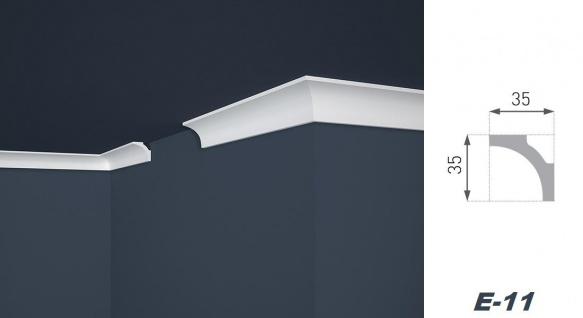 2 Meter Stuckleiste XPS Zierprofil Eckleiste stabil Marbet 35x35mm E-11 - Vorschau 2