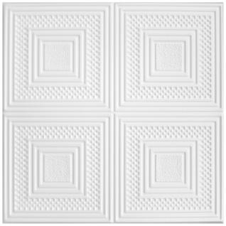 1 qm Deckenplatten Polystyrolplatten Stuck Decke Dekor Platten 50x50cm Nr.67