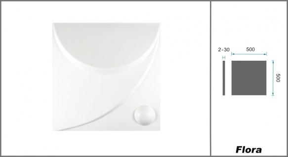 1 qm 3D Platten Natur Stuck ökologisch Paneele 3D Elite Panels 50x50cm Flora 3D - Vorschau 2