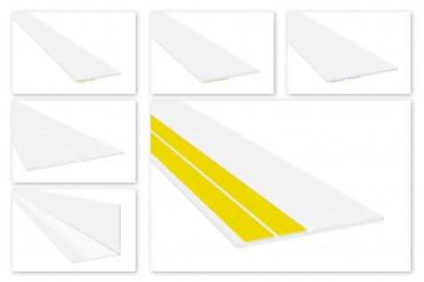 Flachleisten PVC Fensterleiste Deckleiste Knickwinkel Rillen selbstklebend HJ