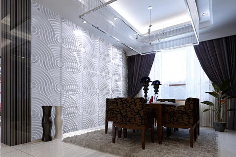 1 qm 3D Platten Natur Stuck ökologisch Paneele 3D Elite Panels 50x50cm Julia - Vorschau 4