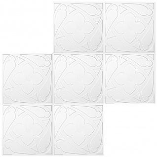1 qm Deckenplatten Polystyrolplatten Stuck Decke Dekor Platten 50x50cm Nr.69 - Vorschau 4
