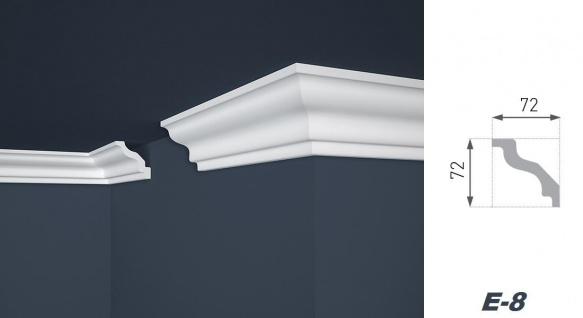 2 Meter Stuckleiste XPS Zierprofil Eckleiste stabil Marbet 72x72mm E-8 - Vorschau 2
