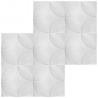 1 qm Deckenplatten Polystyrolplatten Stuck Decke Dekor Platten 50x50cm Nr.63 - Vorschau 3